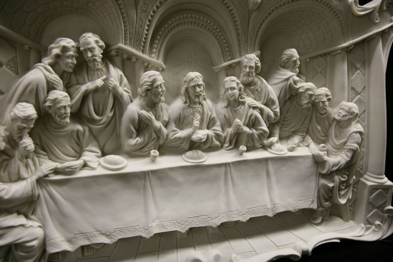 The Last Supper Wall Art x-large the last supper jesus wall plate plaque catholic statue