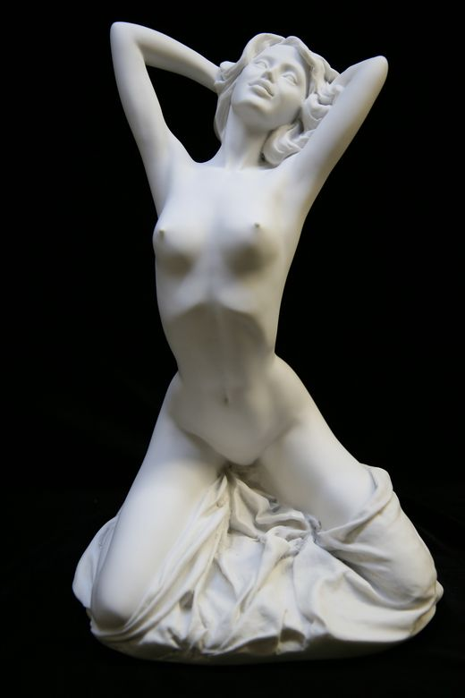 Statue of a nude venus isolated on white with clipping path Stock Photo   ...